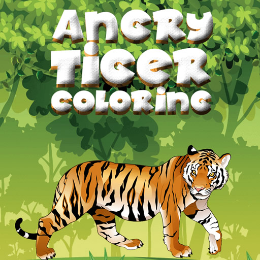 Angry Tiger Coloring