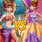 Anna Mermaid Vs Princess