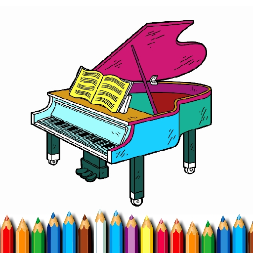 BTS Piano Coloring Book