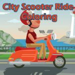 City Scooter Ride Coloring