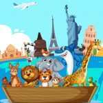 Crazy Friends Travel The World Puzzle