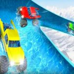 Crazy Monster Truck Water Slide Game