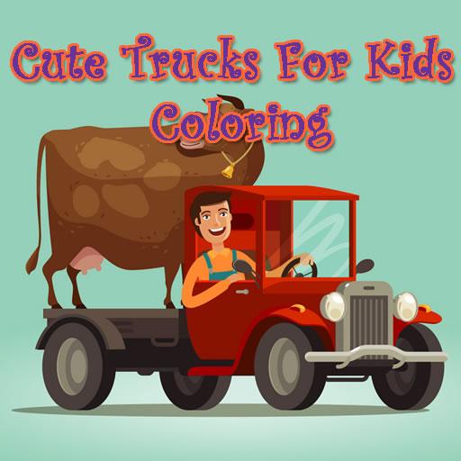 Cute Trucks For Kids Coloring