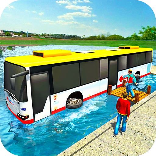 Floating Water Bus Racing Game 3D