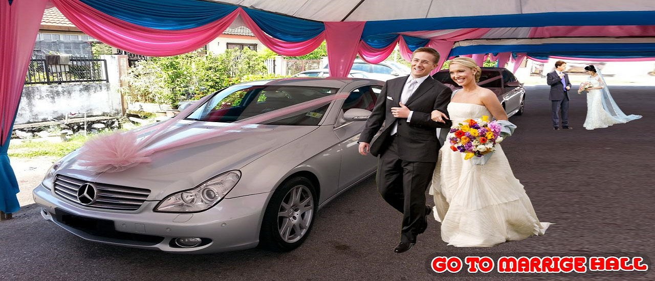 Luxury Wedding Taxi Driver City Limousine Driving