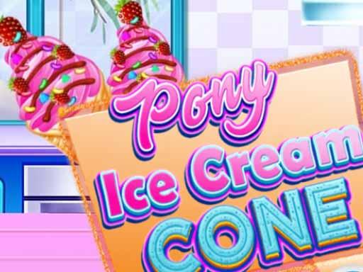 Pony Ice Cream Cone