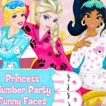 Princess Slumber Party Funny Faces