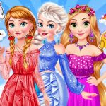 Princesses Rainbow Dressup