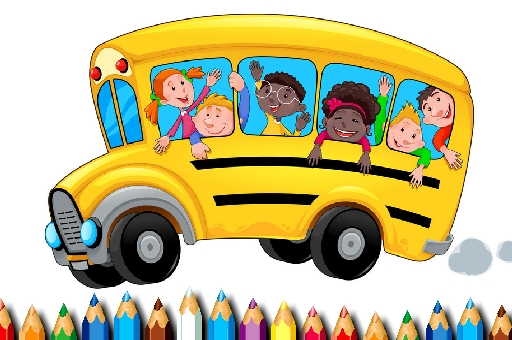 School Bus Coloring Book