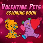 Valentine Pets Coloring Book
