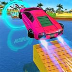 Water Car Stunt Racing 2019 3D Cars Stunt Games
